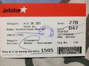 Jetstar ticket