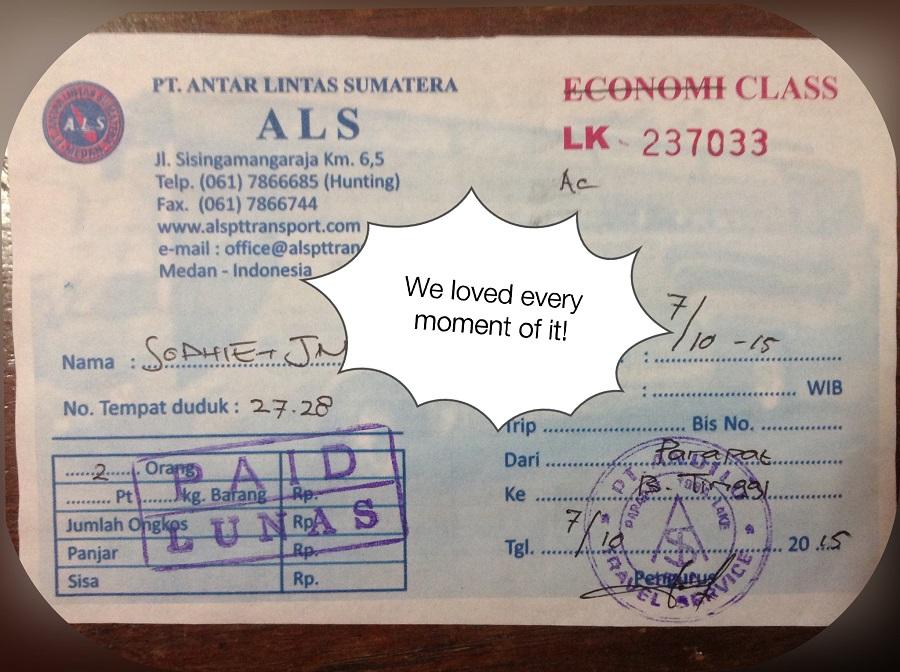 billet bus sumatra