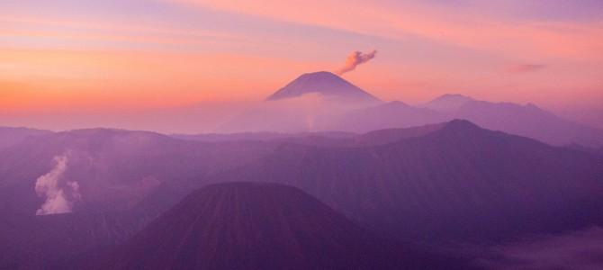 Autre volcan, autre lever de soleil: Gunung Bromo
