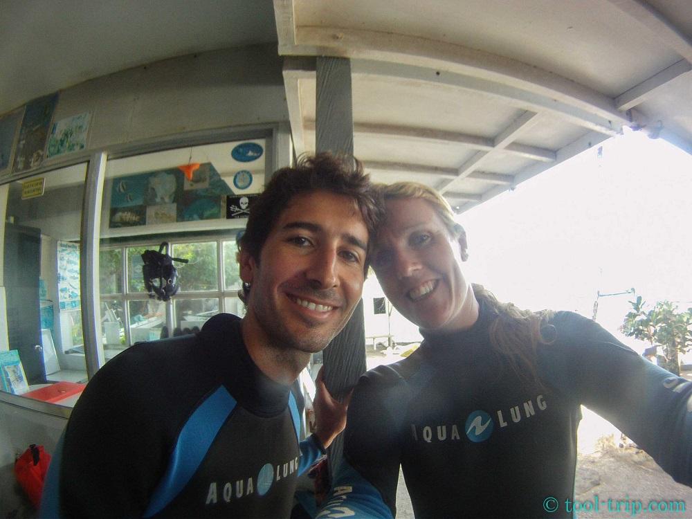 JM and soph go diving