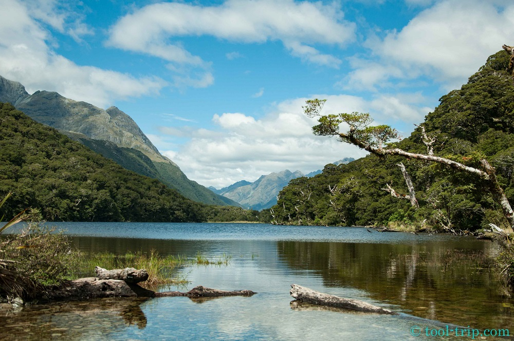 Routeburn track lake