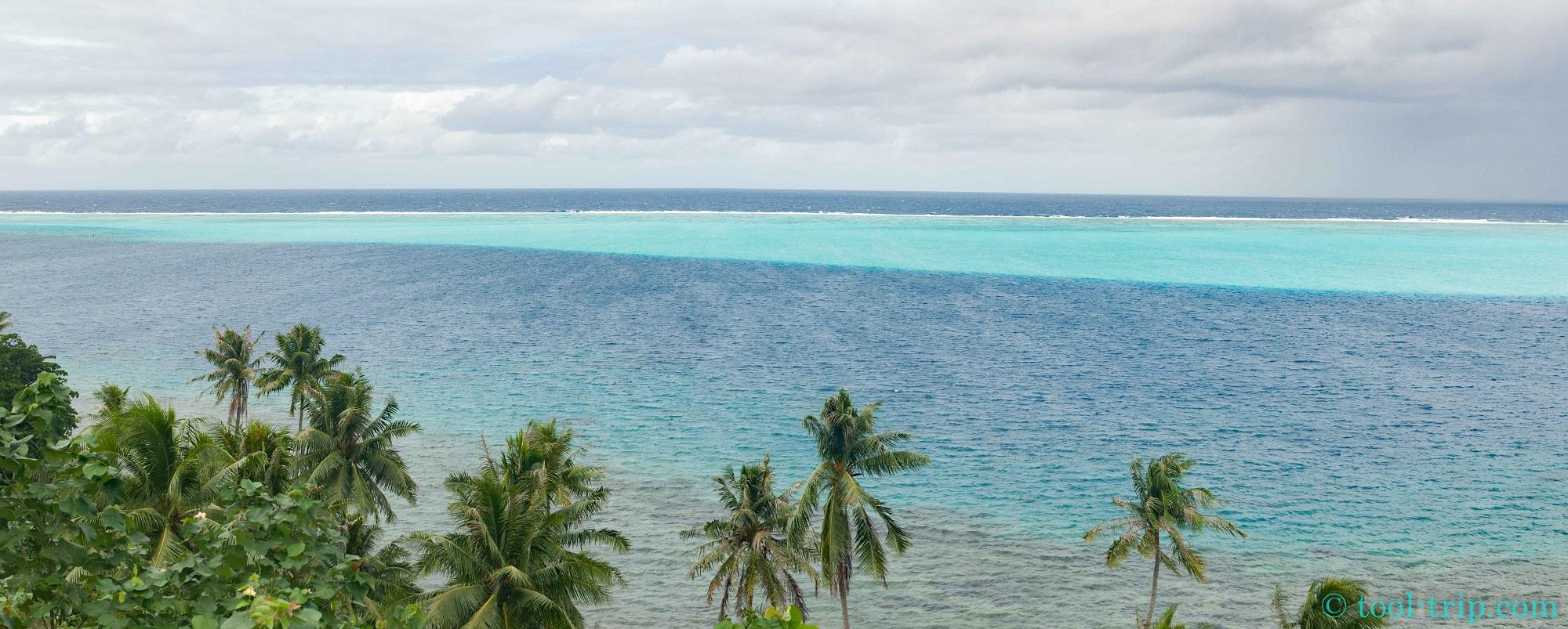 Pano Huahine lagon