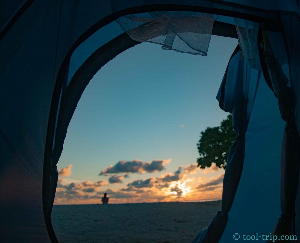 Vue sunset tente
