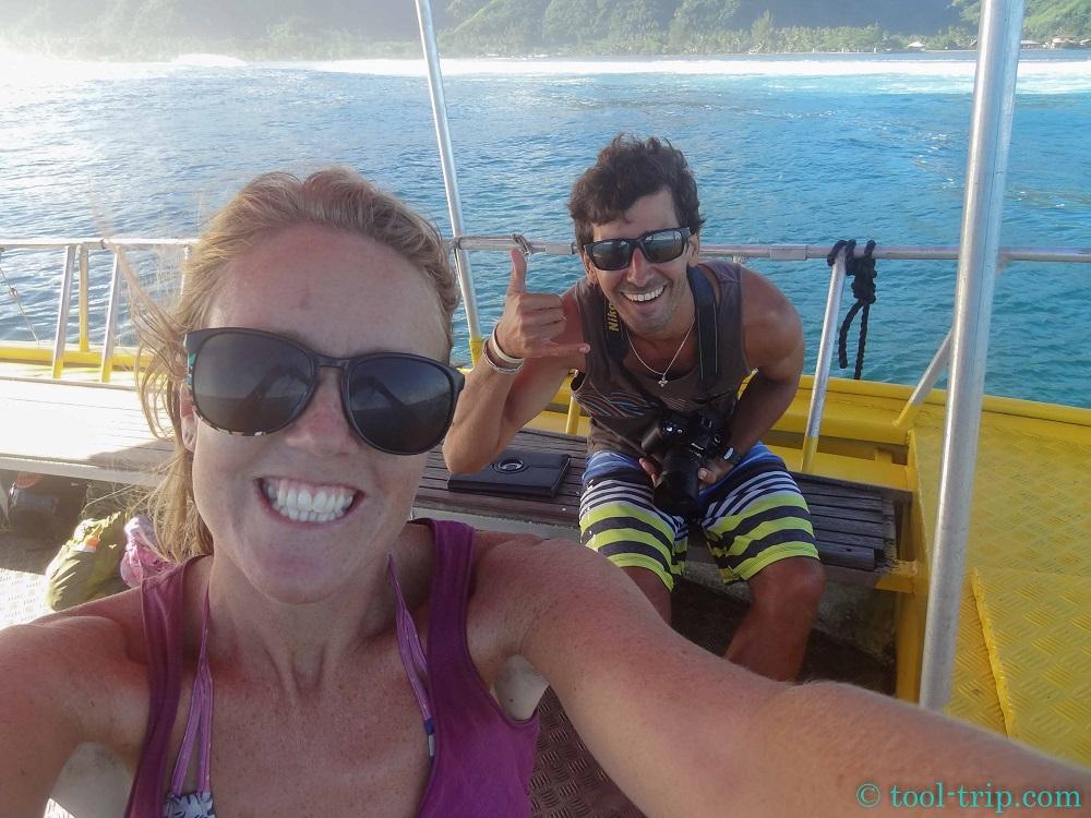 Selfie taxi boat