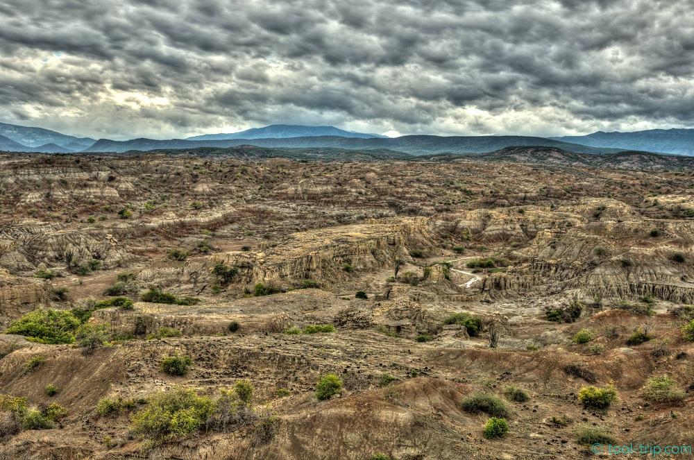 Grey desert hdr