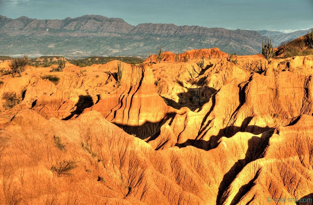 Red desert sunrise zoom