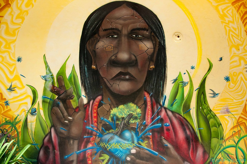 Street art indigenous