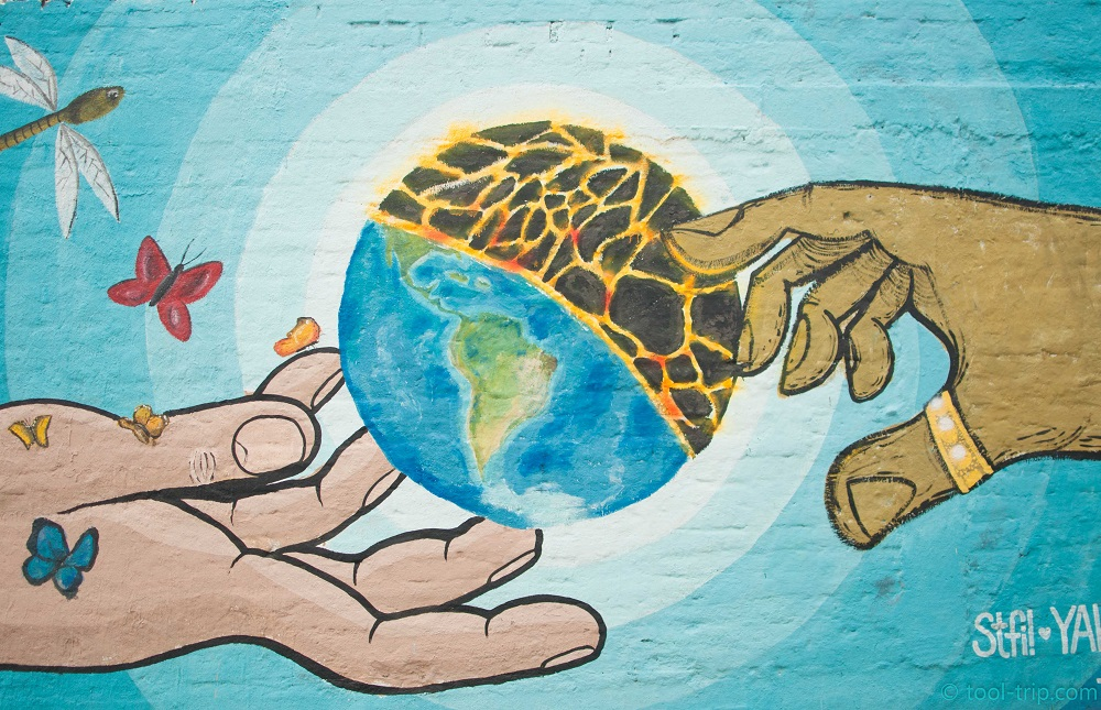 Earth street art